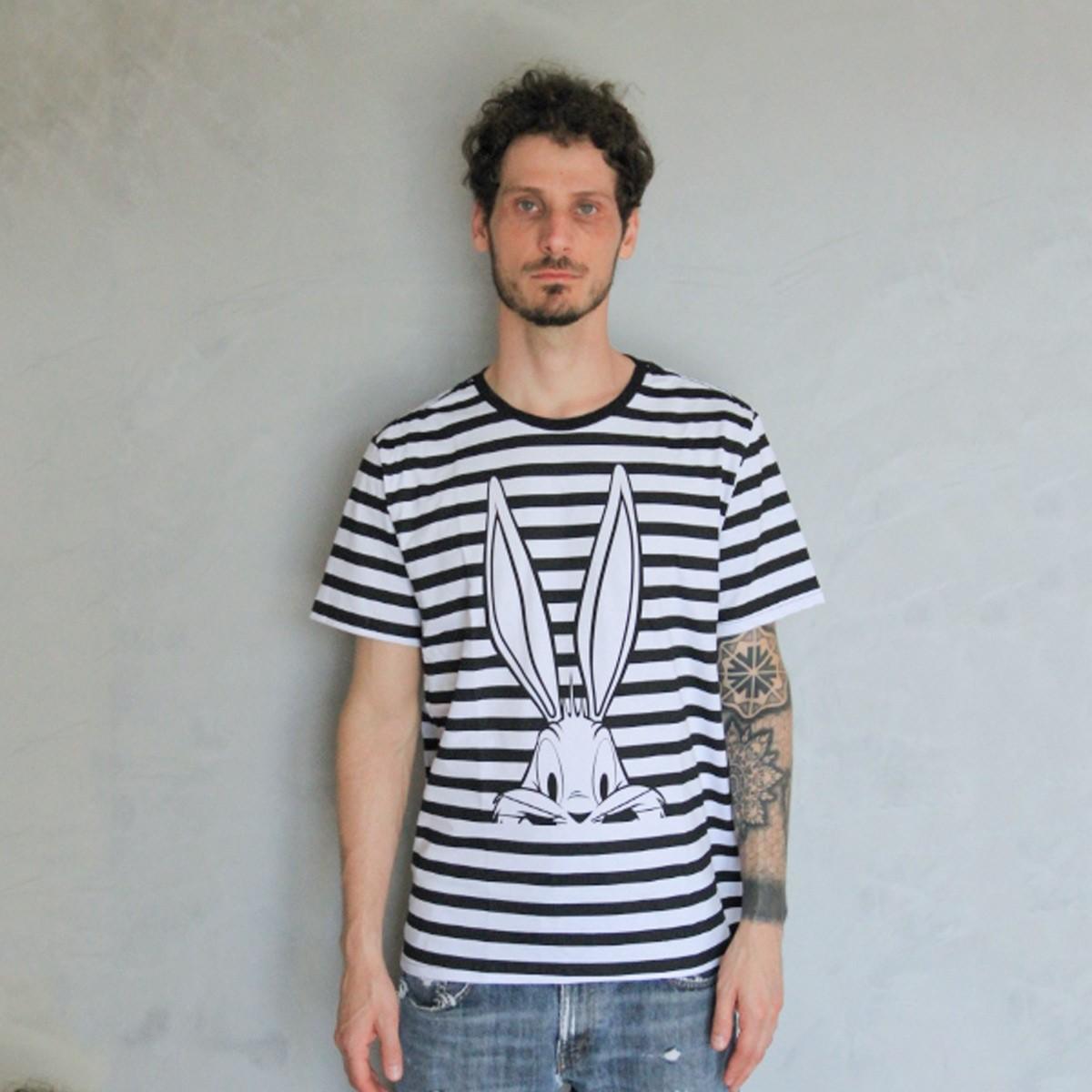 T-shirt Unissex Looney Tunes Pernalonga Tracing
