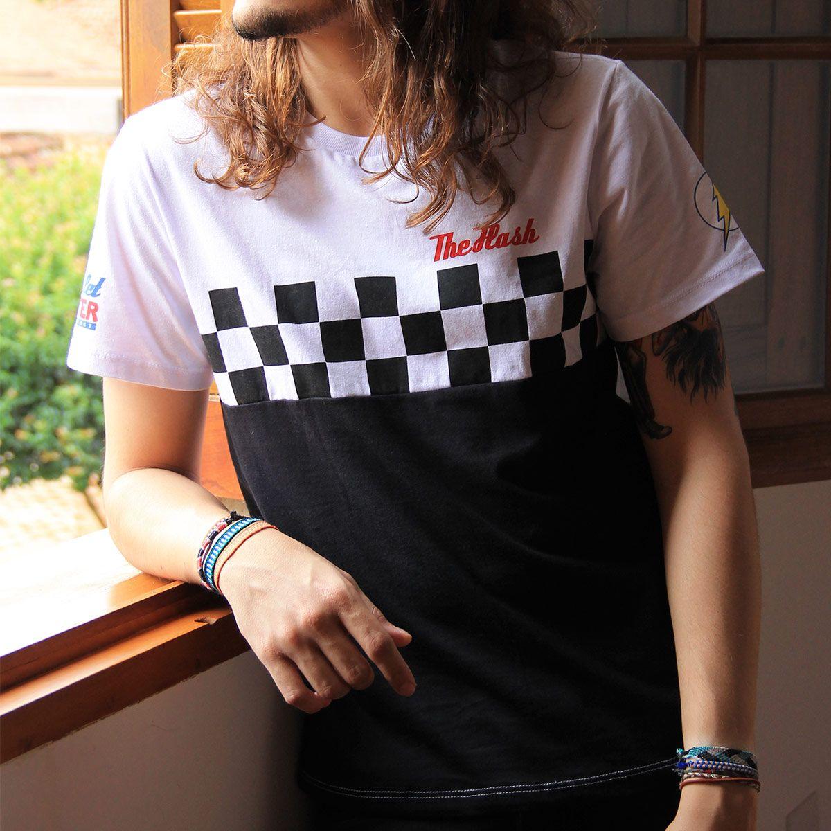 T-shirt Unissex The Flash Racing