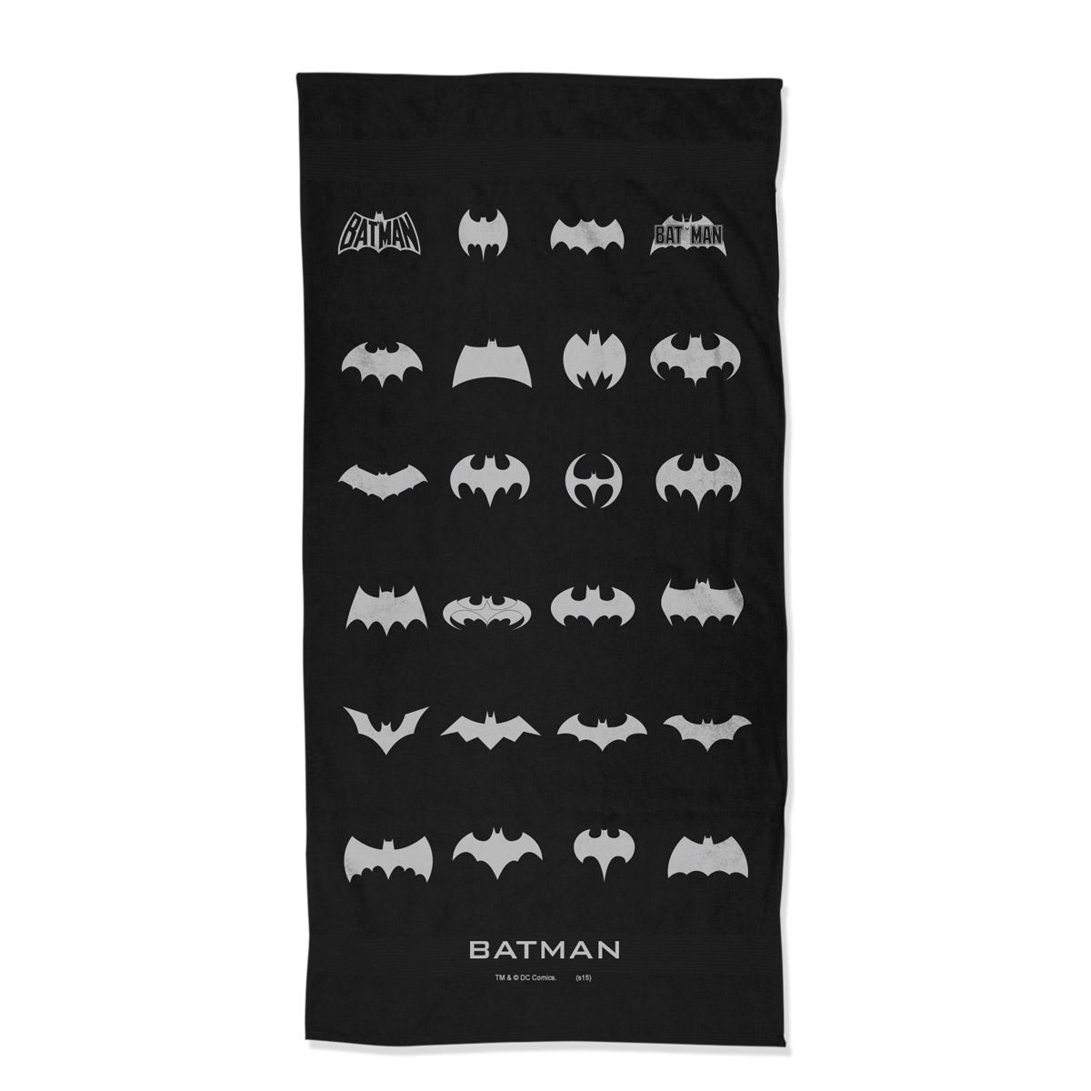 Toalha de Banho Batman Logos