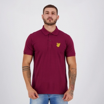 Athletico Paranaense Burgundy Polo Shirt