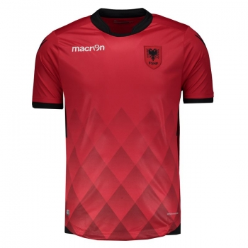 Macron Albania Home 2017 Authentic Jersey