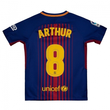 Nike Barcelona Home 2018 8 Arthur Kids Jersey