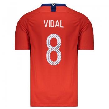 Nike Chile Home 2018 8 Vidal Jersey