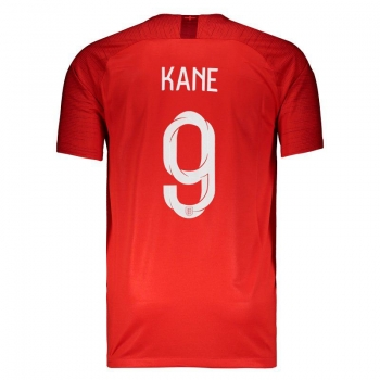 Nike England Away 2018 Jersey 9 Kane