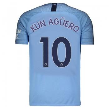 Nike Manchester City Home 2019 10 Kun Aguero Jersey