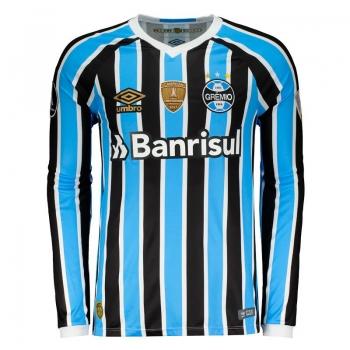 Umbro Grêmio Home 2018 Libertadores Long Sleeves Jersey