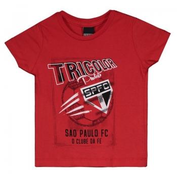 São Paulo Sketch Kids Red T-Shirt