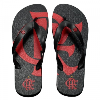 Flamengo Badge Black Flip Flops
