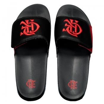 Flamengo Slide CRF Black Flip Flops