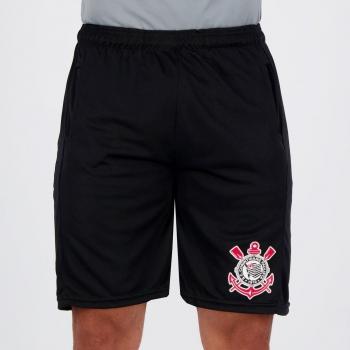 Corinthians Script Black Shorts
