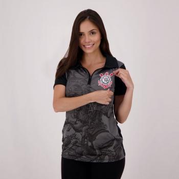 Corinthians St Jorge Women Black Polo Shirt
