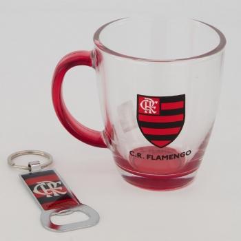 Flamengo Escudo Glass Mug