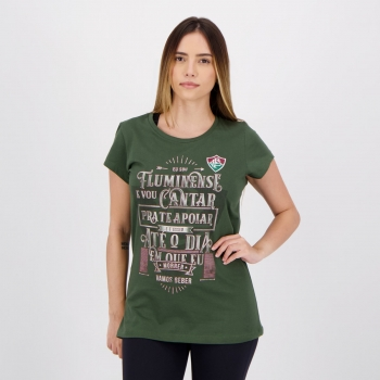 Fluminense Canto Women Green T-Shirt
