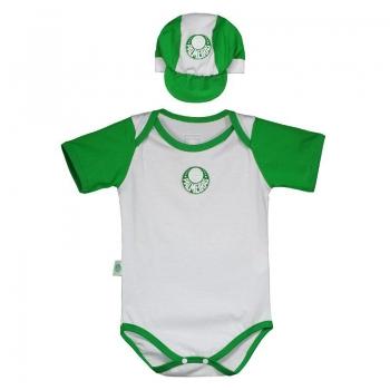 Palmeiras Baby Romper Suit With Cap