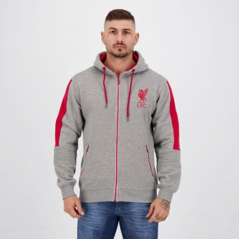 Liverpool Trilobal Mix Gray Sweatshirt Jacket
