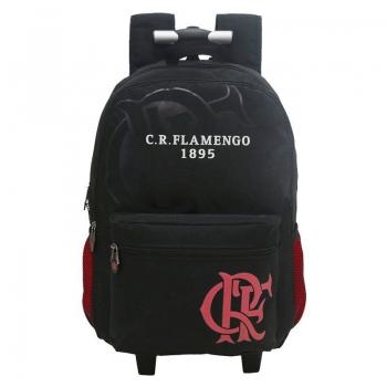 Flamengo Black Backpack with Wheels