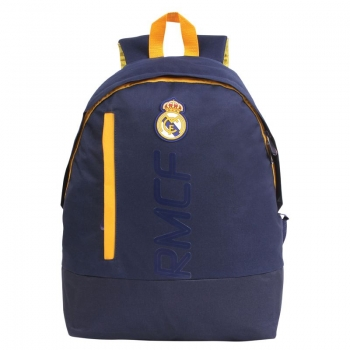 Real Madrid Navy Blue and Yellow Backpack