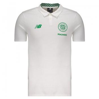 New Balance Celtic 2018 White Polo Shirt