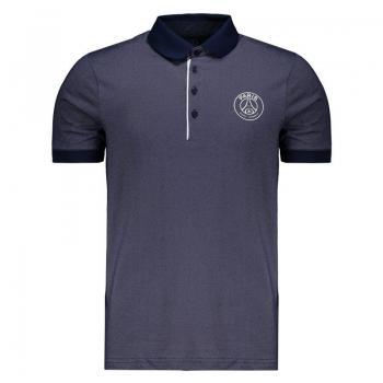 PSG Badge Navy Blue Polo Shirt
