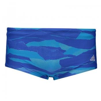 Adidas 3s Gra Blue Trunks Swimwear