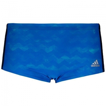 Adidas 3s Blue Boxer Trunks Swimwear