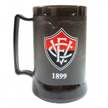 Vitória Badge Black Gel Freezer Mug