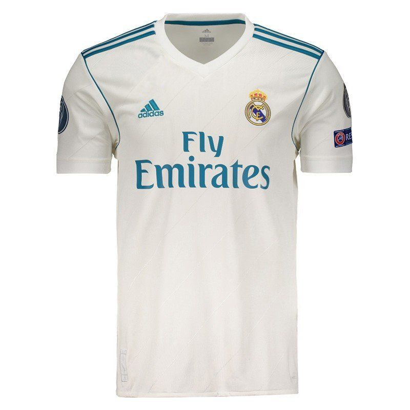 687d4bef5d1 Adidas Real Madrid Home 2018 UCL FIFA Patch Jersey - FutFanatics