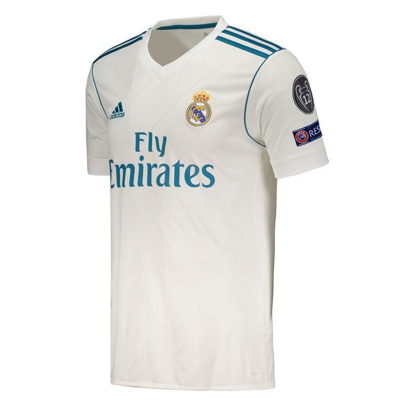 Adidas Real Madrid Home 2018 UCL FIFA Patch Jersey - FutFanatics c6a53d23f7270
