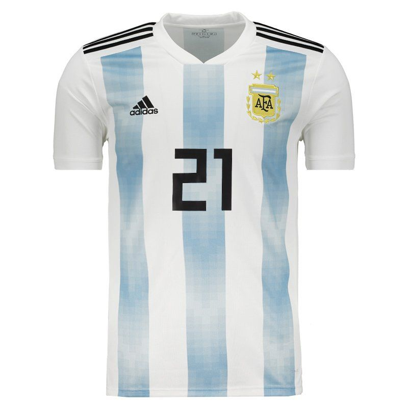 sneakers for cheap 715e6 dbc4b Adidas Argentina Home 2018 Jersey 21 Dybala