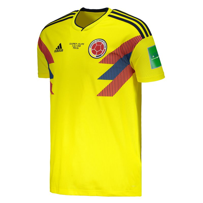 Adidas Colombia Home 2018 Patch Matchday Jersey