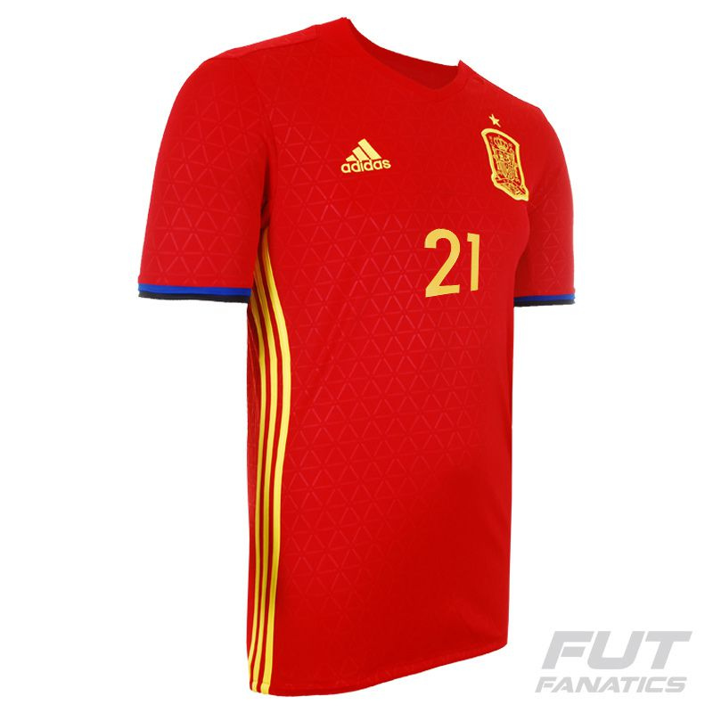 ... Adidas Spain Home 2016 Jersey 21 Silva - FutFanatics 06e57457cf43cd ... 355cdad657e16