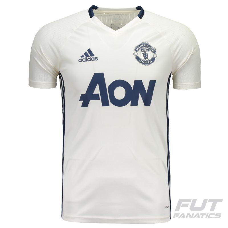 Adidas Manchester United Training 2017 White Jersey - FutFanatics 346c9972adc52