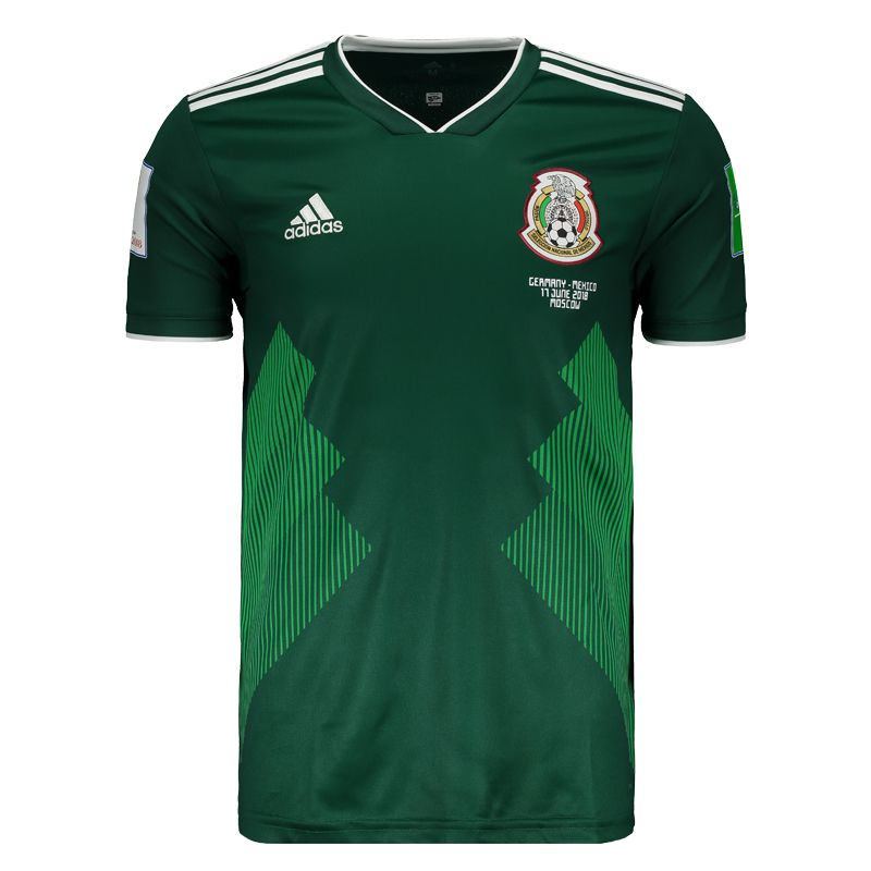 Adidas Mexico Home 2018 Patch Matchday Jersey