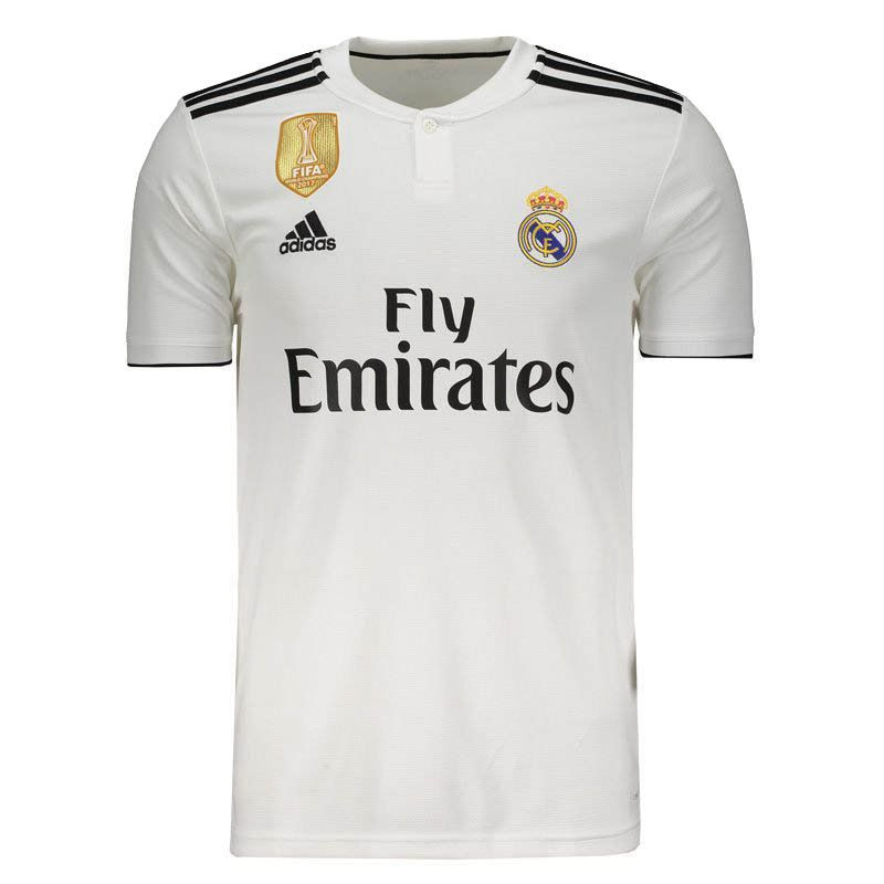 Adidas Real Madrid Home 2019 Patch Jersey - FutFanatics 22f72e44f583c