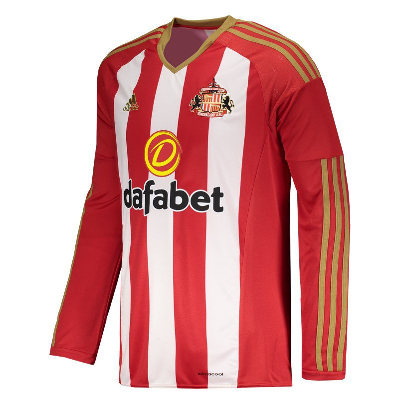 15c189dfac0 Adidas Sunderland Home 2017 Long Sleeves Jersey - FutFanatics