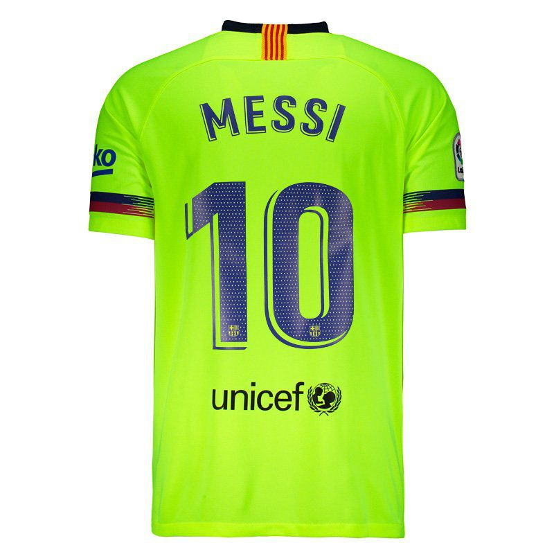quality design aa21c 4f13b Nike Barcelona Away 2019 10 Messi Jersey - FutFanatics