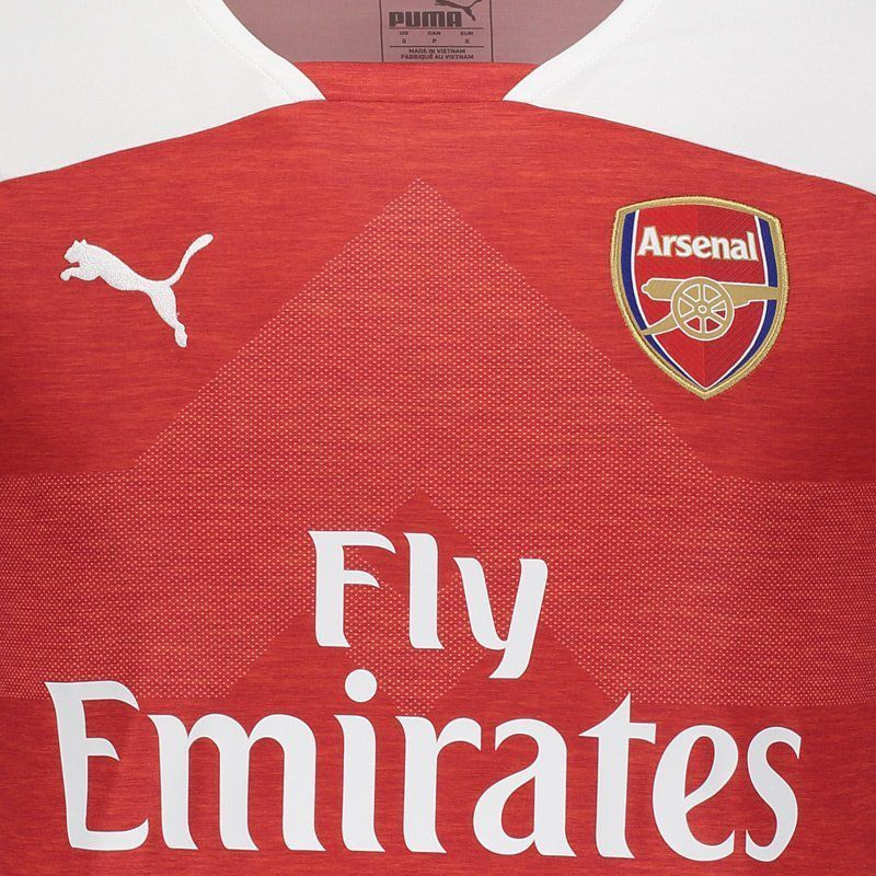 official photos a4931 9ece9 Puma Arsenal Home 2019 14 Aubameyang Jersey