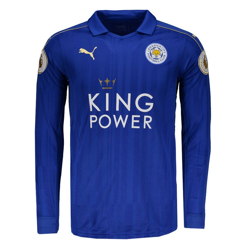 Puma Leicester City Home 2017 Premier League Long Sleeves Jersey -  FutFanatics 4274d8a4ffd5b