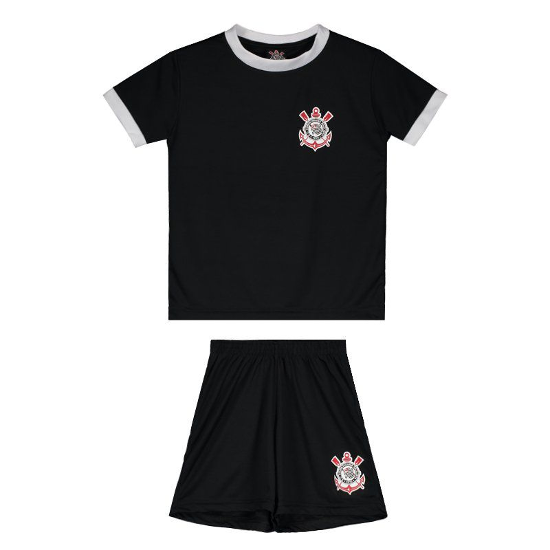 Corinthians Basic Black Kids Kit - FutFanatics 8dca532ca3ff8