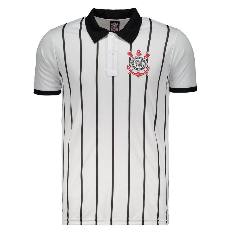 Corinthians Corinthian Democracy White Polo Shirt - FutFanatics e6eb98203aa09