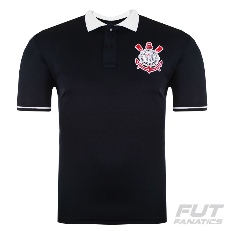 Corinthians Black Polo Shirt - FutFanatics 849b9569d8a89