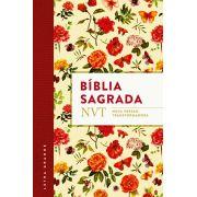 BÍblia NVT - Flores - Letra Grande - Flexível
