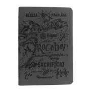 Bíblia Lettering Luxo Chumbo - NAA - Capa Flexível