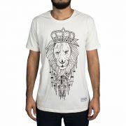 Camiseta Lion's Kingdom Bege Masculina - #REINODEPONTACABEÇA