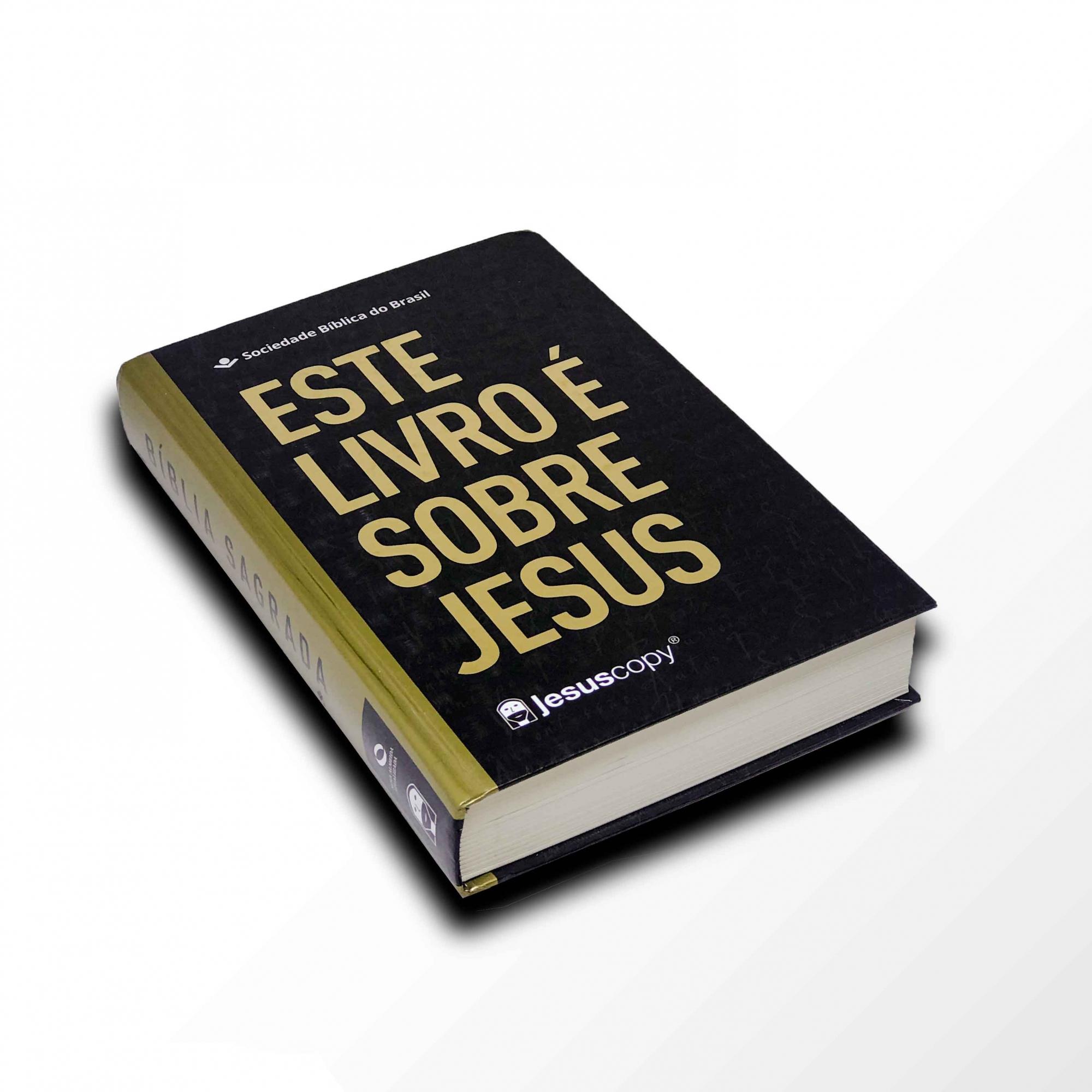 Bíblia Este livro é sobre Jesus - LETRA GRANDE - NAA  - Loja JesusCopy