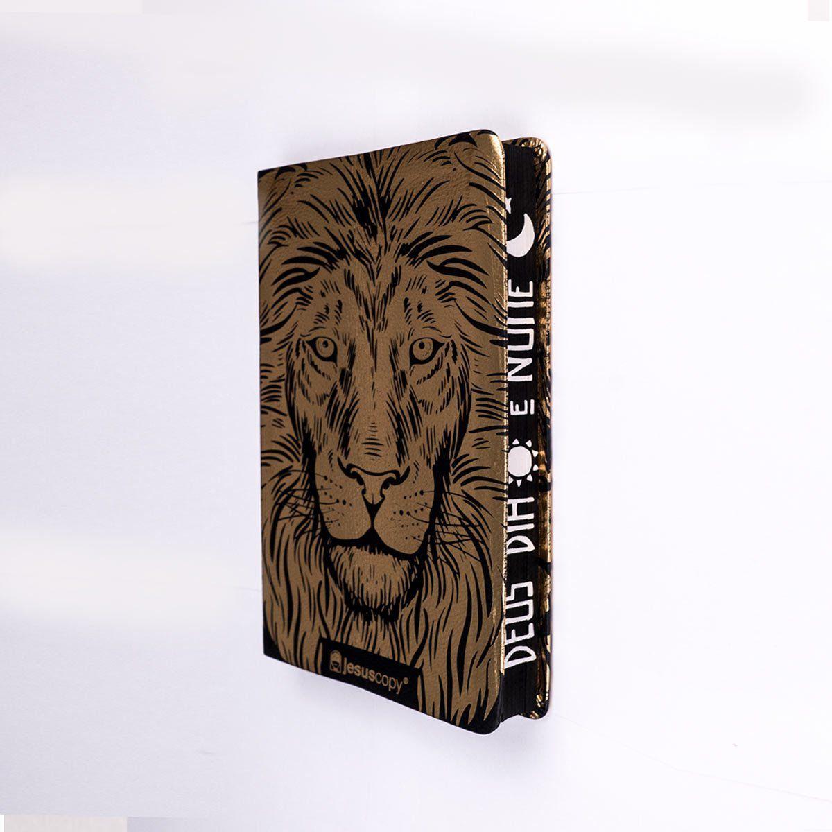 Bíblia Leão Luxo - NVI - Capa Flexível   - Loja JesusCopy