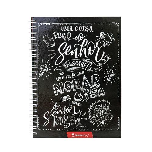 Caderno JesusCopy - Capa Dura com Espiral - 1 matéria  - JesusCopy