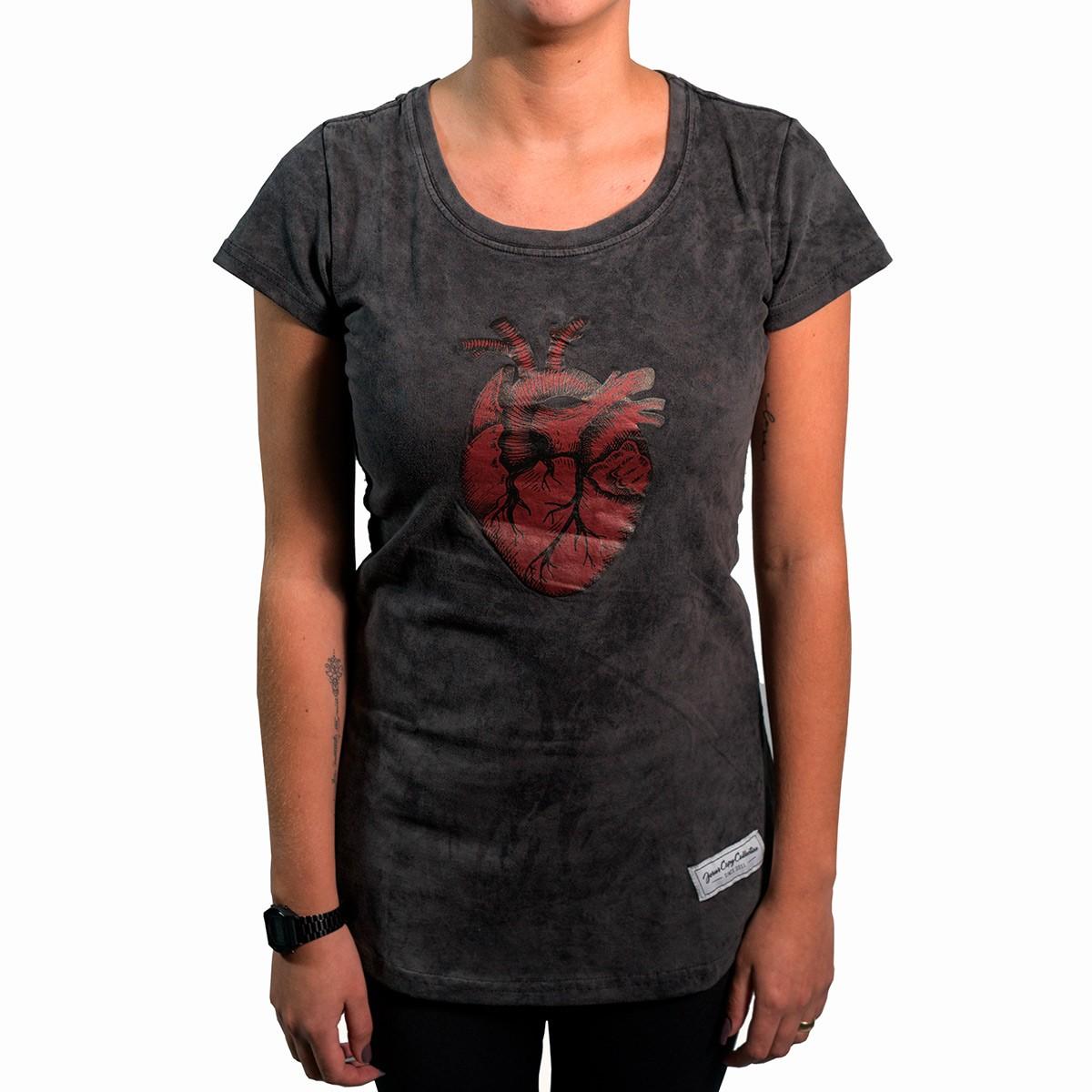 Camiseta Coração Fem.  - JesusCopy
