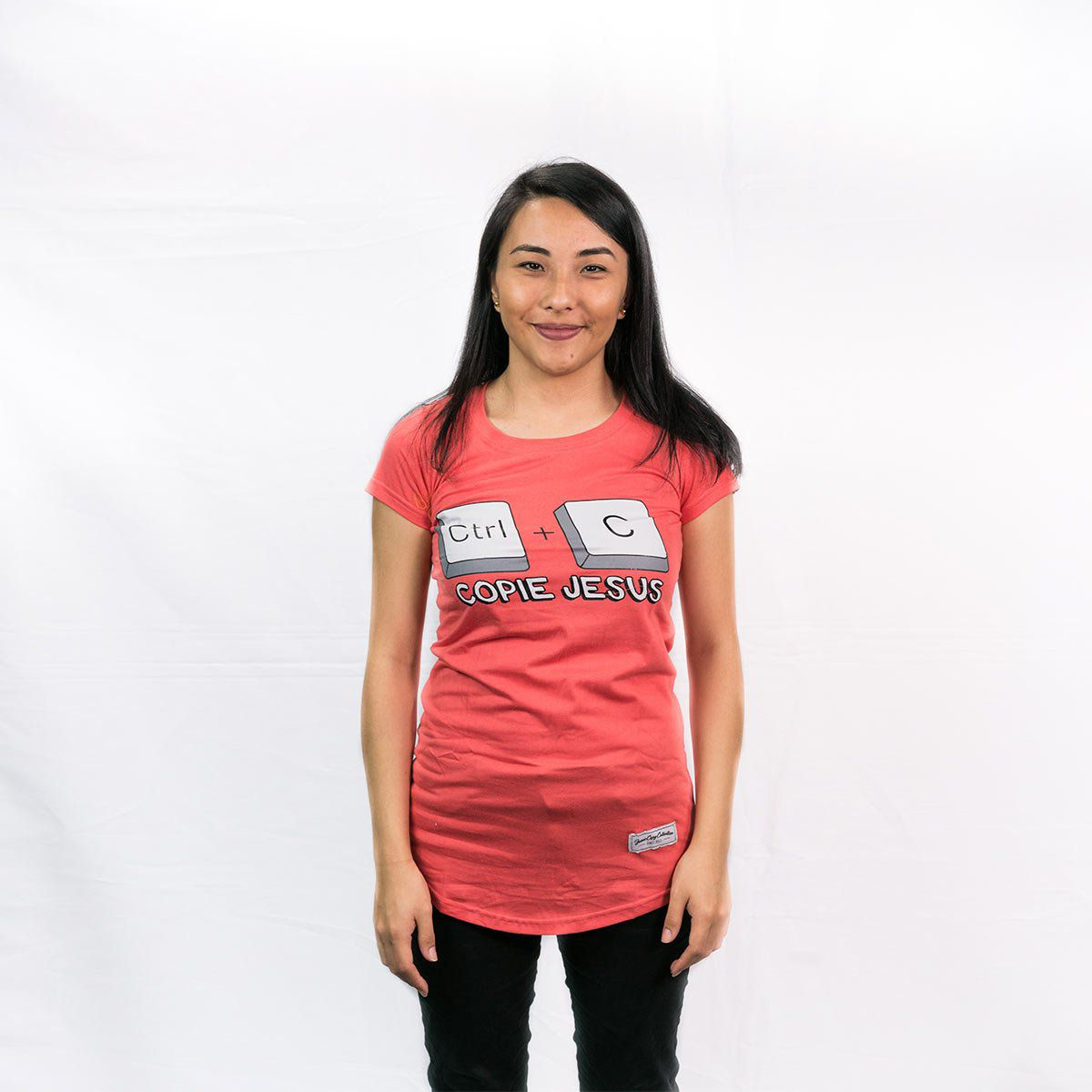 Camiseta  Ctrl+C  Jesus Fem.  - JesusCopy