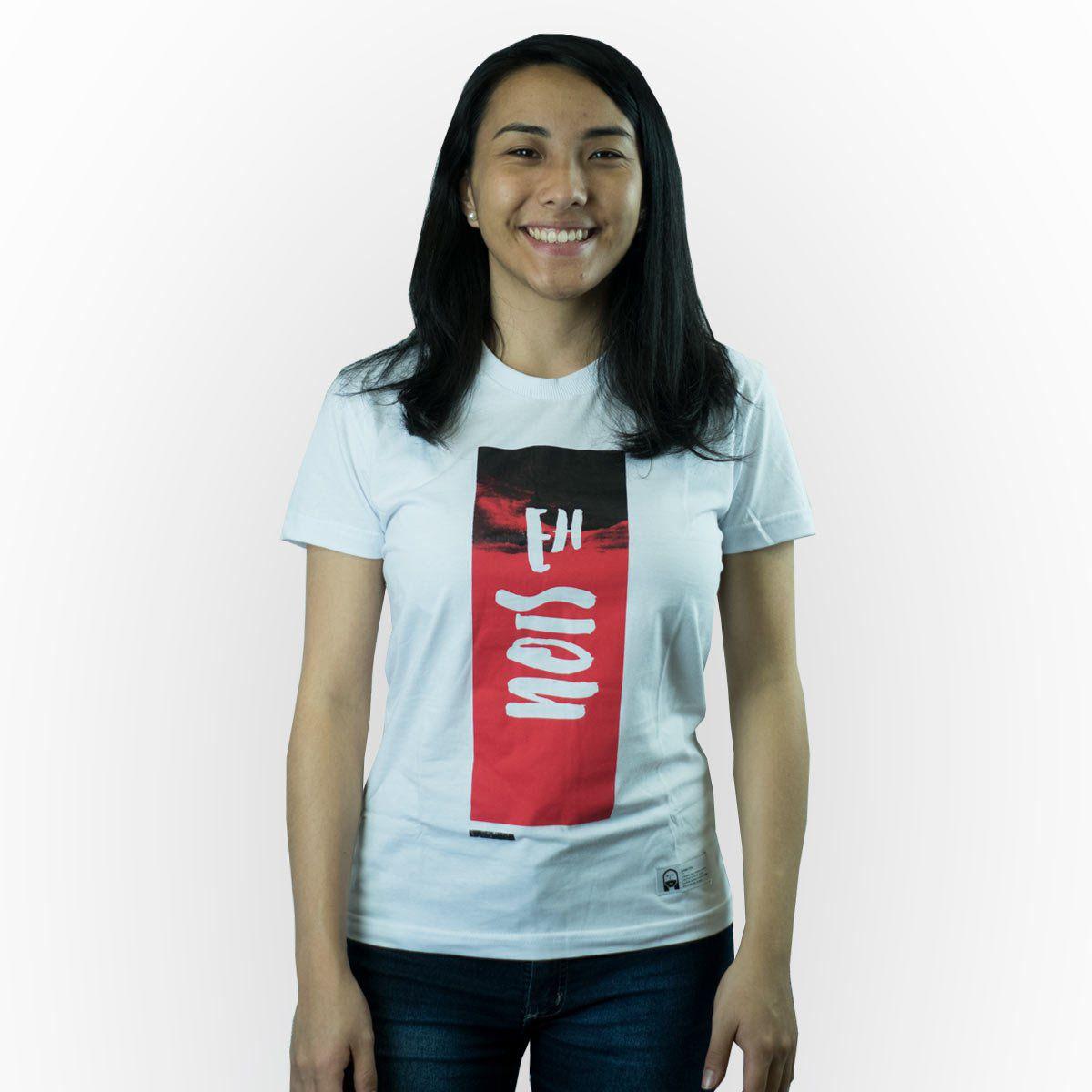 Camiseta EhNois Branca Fem.   - JesusCopy